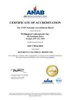 ISO 17034:2016 certificate and scope
